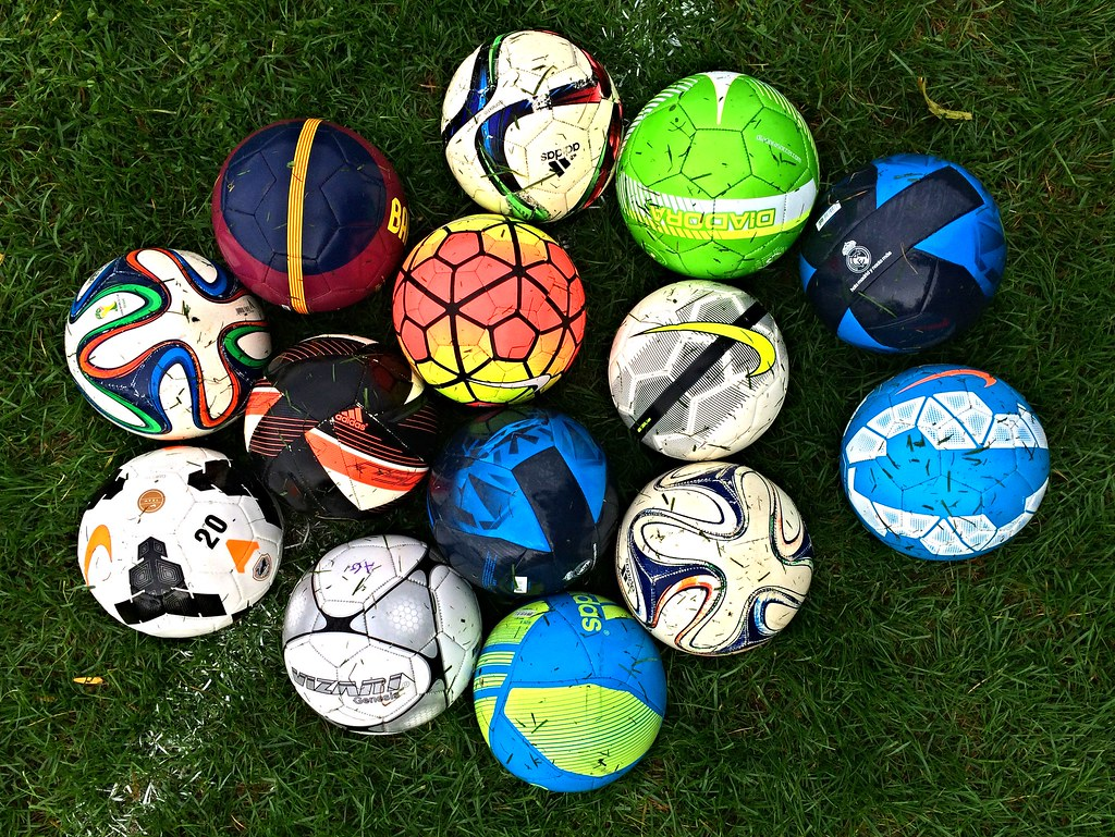 Picture of lots of soccer balls